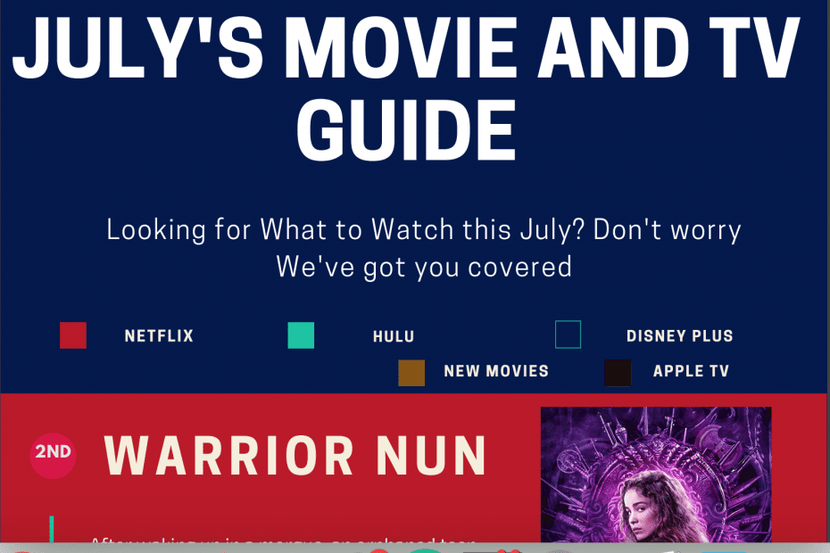 What to Watch: July's Movie And TV Guide